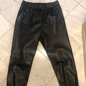 Gap leather joggers